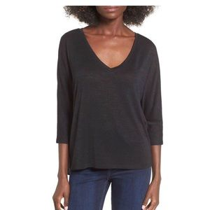 NWT- Leith Slouchy Black Knit Top